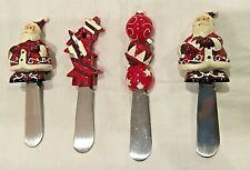 **BRAND NEW** Set of 4 Christmas Cheese Spreaders (Santa Claus)