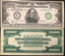 Reproduction United States 1934 $10,000 Bill Federal Reserve Note Copy USA