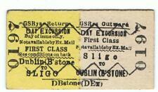 Railway Tickets Ireland,  G S R, SLIGO to DUBLIN (BROADSTONE), 1st Day Excursion