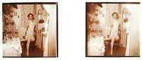Donna Artista Foto PL47L12 Stereo Placca Da Lente Vintage c1920