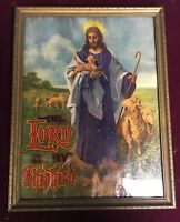 Beautiful Late 19th Century The Lord Is My Shepherd Chromolithograph