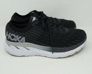 Hoka One Clifton 5 Running Shoes Black/White Women's US 8