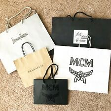 MCM AllSaints Saks Fifth Ave Neiman Marcus Empty Store Bag Lot Of 5