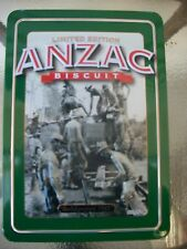 rare limited edition biscuit tin anzac biscuits plus history of anzacs 1945