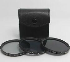 3pcs/lot 58mm Neutral Density ND2/ND4/ND8 lens Filter Kit set ND+2+4+8 + case 58