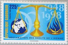 GABON GABUN 1998 1424 932 Universal Declaration of Human Rights Menschenrechte**
