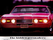 1968 Olds 442/Oldsmobile Cutlass Original Ad-W32/W31/W30/door/hood/ bumper/emblem