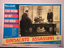 Fotobusta SINDACATO ASSASSINI 1960 PETER FALK, MAY BRITT, STUART WHITMAN