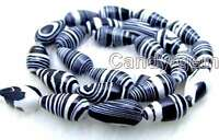 Black 8*16mm Drop Zebra Stripe Agate Beads for Jewelry Making DIY Strands 15""