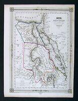 1842 Bocage Map - Egypt Nubia Abyssinia Arabia - Africa