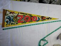 Vintage Woodland Park Zoo Seattle Washington Pennant 25 Inch