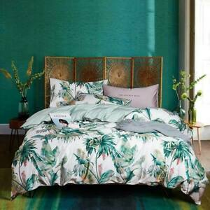 Nordic Floral Egyptian Cotton Bedding SetDuvet Cover Set Fitted Sheet Pillowcase