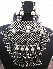 Statement Necklace Choker Earring Goth Bohemian Gypsy Boho Ethnic Tribal Jewelry