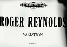 R.Reynolds: Variation for Piano solo.