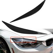 Carbon Fiber Headlight Eyebrows Eye Lid Cover For 12-18 BMW F32 F33 F36 4 Series