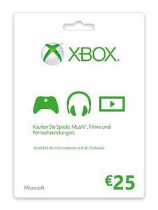 Xbox Live Guthaben 25 Euro Xbox Live Code Email Lieferung