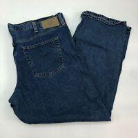 Eddie Bauer Jeans Mens 44X32 Blue Relaxed Fit 100% Cotton Medium Wash 5 Pockets