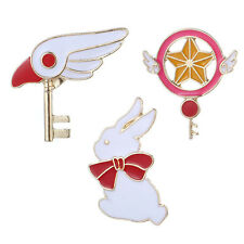 Fashion 3pcs Women Girl Brooch Rabbit Star Bird wings Eagle head badge Cloth Pin