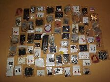 COSTUME FASHION JEWELY LOT 74 PR PAIRS OF EARRINGS NEW