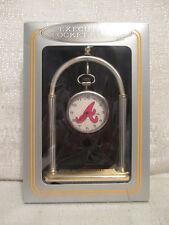 Sun Time Atlanta Braves Executive Sports Pocket Clock MLB Baseball
