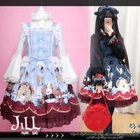 lolita fairy princess diary Alice mad tea party check print dress JSK JI3080