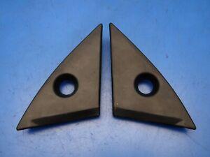 86-89 Acura Integra OEM Left & right side mirror covers garnish trims corners x2