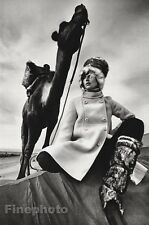 1967 Vintage 11x14 FEMALE FASHION Camel Morocco Photo Gravure By JEANLOUP SIEFF