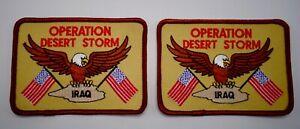 Opération Desert Storm Irak Patch à Coudre Ensemble De 2 Correctifs