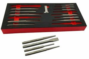 Britool Hallmark PUNCH CHISEL SET in Foam Holder COLD CHISELS CENTRE PUNCHES