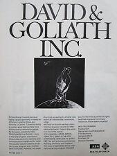 4/1972 PUB AEG TELEFUNKEN DAVID GOLIATH SPACE ELECTRONICS SATELLITE ORIGINAL AD