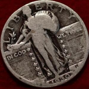 1930 Philadelphia Mint Silver Standing Liberty Quarter
