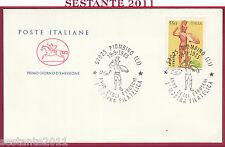 ITALIA FDC CAVALLINO ANNO DEGLI ETRUSCHI MOSTRA FILATELICA 1985 PIOMBINO LI Y881