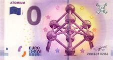 BELGIQUE Bruxelles, Atomium, Verso 2, 2017, Billet 0 € Souvenir