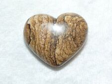 30 mm Premium Picture Jasper Mineral Heart  07