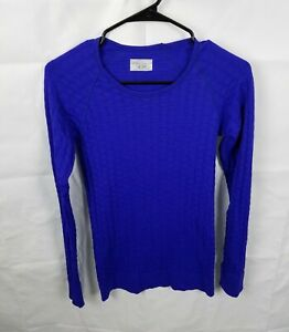 Athleta Epitomize Textured Long Sleeve Shirt Top 152502 Womens Size Small