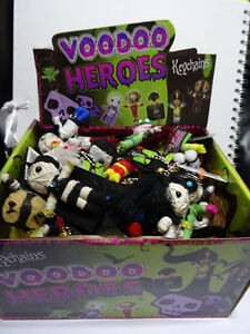Voodoo heroes superhero string doll keychains, wool charm for boys and girls
