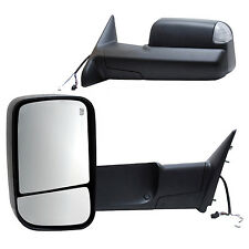 2016 2017 2018 DODGE RAM 1500 POWER HEATED SIGNAL PUDDLE TOWING MIRROR (PAIR)