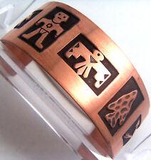 Copper Cuff Bracelet Wheeler Mf Arthritic Healing Sciatica Detox Folklore cb 138