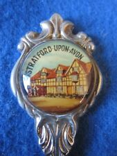 Stratford-Upon-Avon England Collectible Silver Spoon - Shakespeare Home Souvenir