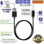 3-PACK MICRO-USB Heavy Duty FAST Data Sync & Charger USB Charging Cable Cord