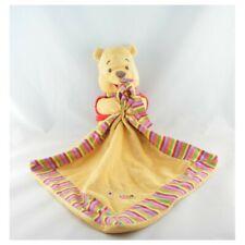 Doudou Winnie l'ourson avec mouchoir couverture rayé abeille Disney - Ours Mouch