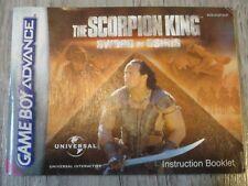 NOTICE THE SCORPION KING SWORD OF OSIRIS GAME BOY GAMEBOY ADVANCE GBA (EUR)