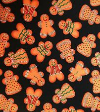 RARE GINGERBREAD Fabric Boy and Girls Cookies Timeless Treasures 2007 OOP