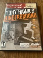 Tony Hawk's Underground (Sony PlayStation 2 PS2, 2003) Complete ~GREATEST HITS~