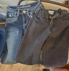 Childrens Place & Justice Jeans Girls Youth Sz 10 Lot of 2 Skinny Jeans