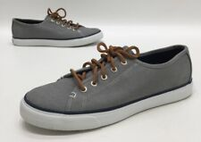 Sperry Top Sider Seacoast Womens Grey Canvas Sneakers Size 8.5M