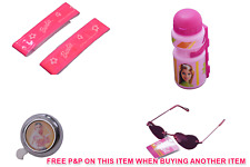 BARBIE DOLL Girlie BICI Accessorio Pack Bell, fascia sul braccio, Occhiali da sole e bottiglia rosa