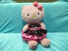 TALKING Build A Bear - PINK HELLO KITTY W/ Dress Soft Plush Stuffed Toy Doll