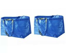 Lot of 2 - IKEA FRAKTA Large Blue Bag Reusable 19G Eco Tote Shopping Laundry Bag