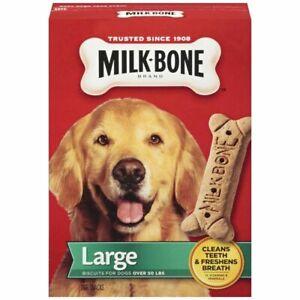 MILK BONE DOG TREAT SNACK BISCUITS 24oz LARGE BOX DOGS OVER 50 lbs BB 11/21 BNIB